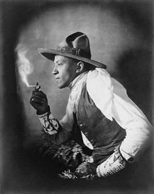 The Cigarette, American Dakota Indian Art Print by Everett