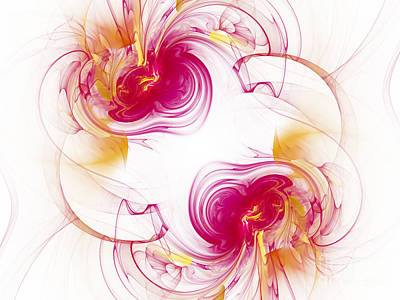Digital Art - The Circle Of Love 1 by Andee Design
