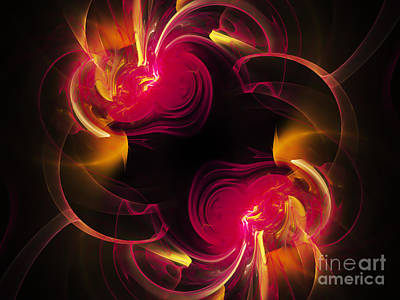 Digital Art - The Circle Of Love 2 by Andee Design