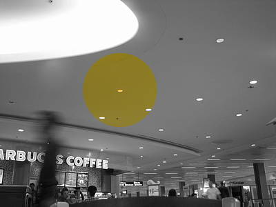 Photograph - The Circle Yellow - Traveling In Need Of A Cup by Kathleen Grace