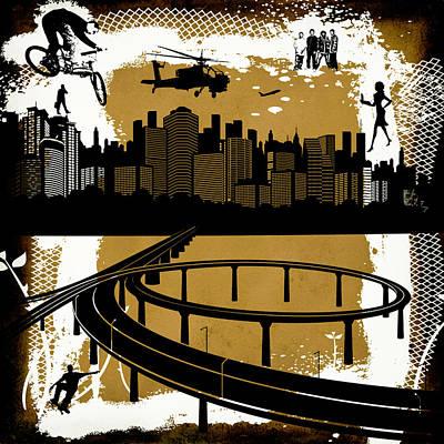 City Digital Art - The City 2 by Angelina Vick