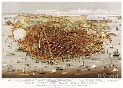 The City Of San Francisco Art Print by Pg Reproductions