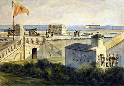 The Civil War, Fort Moultrie Print by Everett