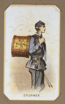 Winslow Homer Photograph - The Civil War, Life In Camp, Drummer by Everett