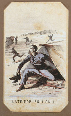 The Civil War, Life In Camp, Late For Art Print by Everett