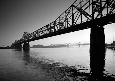 Indiana Landscapes Photograph - The Clark Memorial Bridge II by Steven Ainsworth