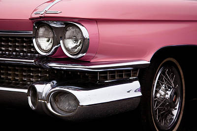 Auto Photograph - The Classic Pink Cadillac Convertible From 1959 by David Patterson