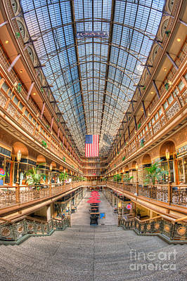 The Cleveland Arcade II Art Print by Clarence Holmes