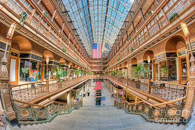 The Cleveland Arcade IIi Art Print by Clarence Holmes
