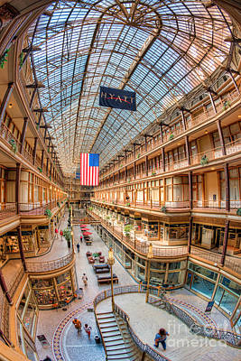 The Cleveland Arcade Iv Art Print by Clarence Holmes