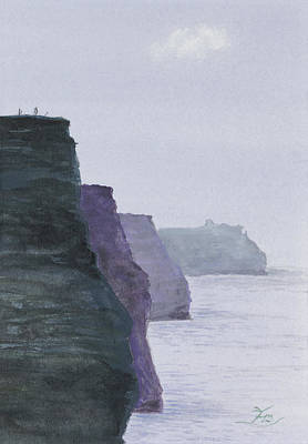 Painting - The Cliffs Of Moher by Flo Markowitz