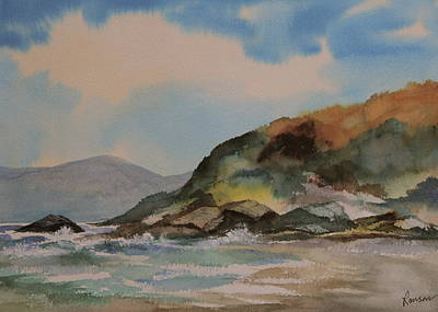 Ranson Painting - The Cliffs Of Southern Oregon by Ron  Ranson