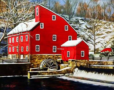 The Clinton Mill Art Print