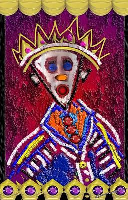 The Clown King Art Print