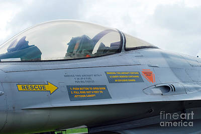 Air Component Photograph - The Cockpit Of An F-16 Fighting Falcon by Luc De Jaeger