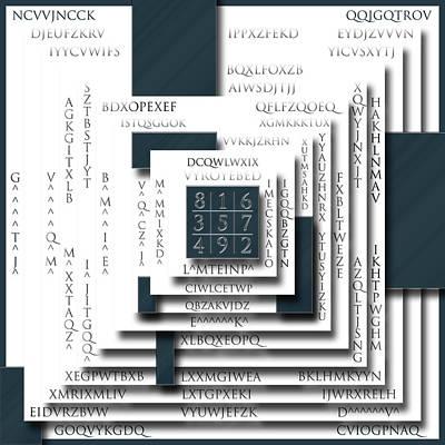 Cipher Digital Art - The Code 3 by Ben Van Rooyen