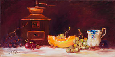 Painting - The Coffee Grinder Still Life by Pati Pelz