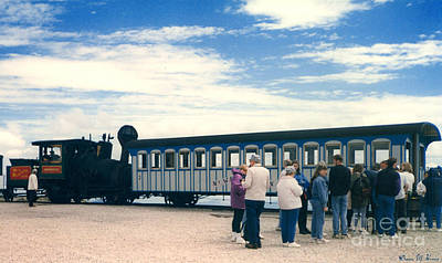 Transportion Photograph - The Cog Railway by Donna Brown
