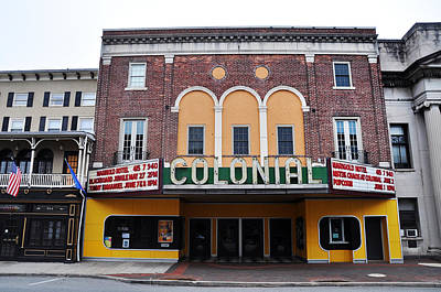 The Colonial Theater Phoenixville Print by Bill Cannon