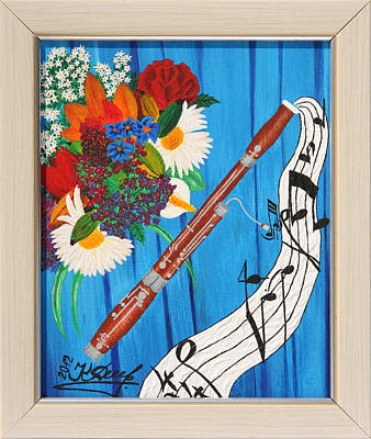 Bassoon Painting - The Color Of Music by Krasimir Delev
