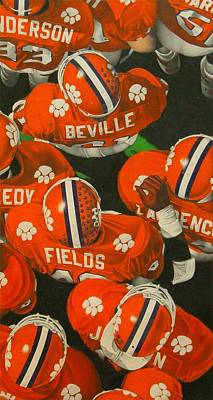 Clemson Drawing - The Color Of The Valley by Connery Carson