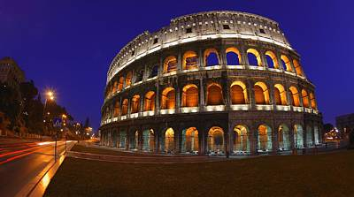 The Colosseum In Rome, Italy Print by Carson Ganci