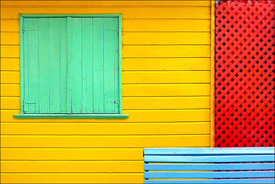 Window Bench Photograph - The Colours Of Caminito by by Felicitas Molina