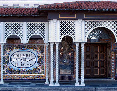 Photograph - The Columbia Restaurant by Judy Wanamaker