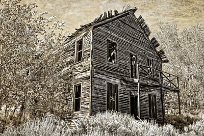 The Comet Ghost Mine Hotel - Montana Art Print by Daniel Hagerman