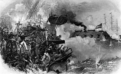 The Confederate Ironclad Merrimack Art Print