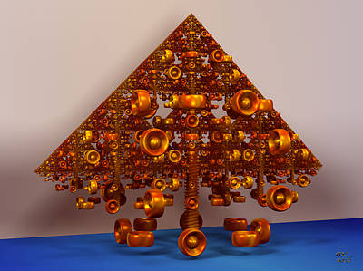 Digital Art - The Construction Of A Sierpinski Fractal by Manny Lorenzo