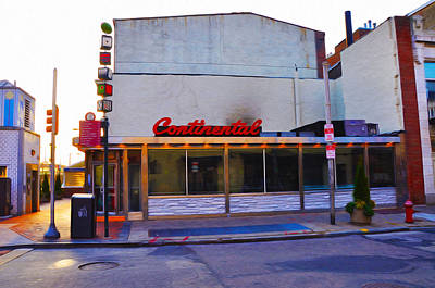Phillies Art Digital Art - The Continental Diner by Bill Cannon