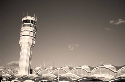 The Control Tower And Art Print by Stephen Alvarez