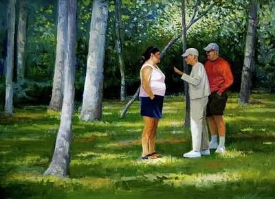 Painting - The Conversation by Mel Greifinger