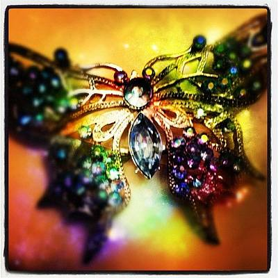 Jewelry Wall Art - Photograph - The Coolest #broach Ever! by Alicia Greene