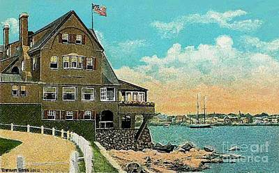Painting - The Corinthian Yacht Club In Marblehead Ma In 1910 by Dwight Goss