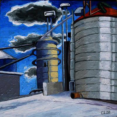 The Corn Machine Print by Charlie Spear