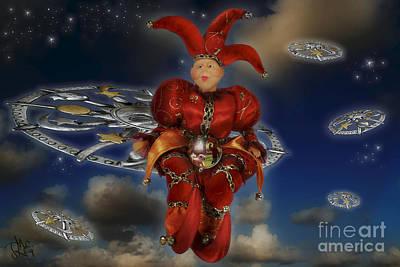 Jester Digital Art - The Cosmic Fool Wisdom by Rosa Cobos