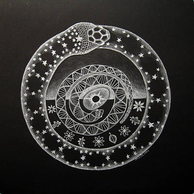 The Cosmic Serpent Art Print by Janelle Schneider