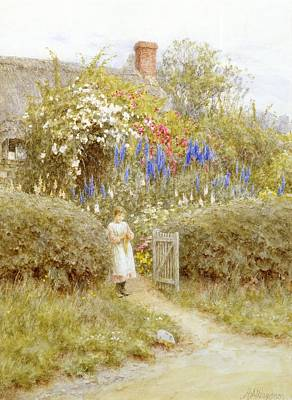 The Cottage Gate Art Print by Helen Allingham