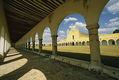 Religious Characters And Scenes Photograph - The Courtyard Of The Great Monastery by Martin Gray