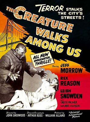 The Creature Walks Among Us, 1956 Art Print by Everett