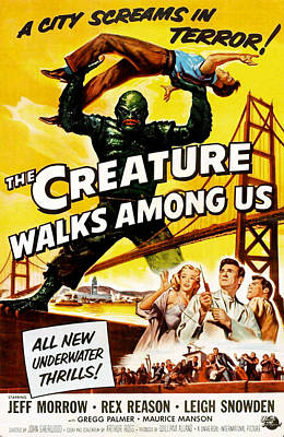 The Creature Walks Among Us, Don Art Print by Everett