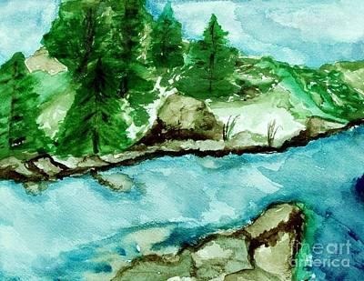 The Creek Bend Art Print by Marsha Heiken