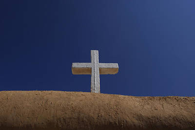 The Cross Above Saint Francis Catholic Art Print by Raul Touzon