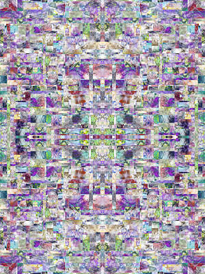 The Cross Fractal Art Print by Betsy Knapp