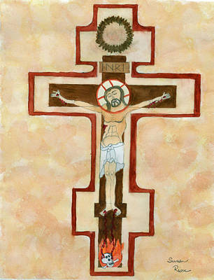 Crusifix Painting - The Cross by Susan Risse
