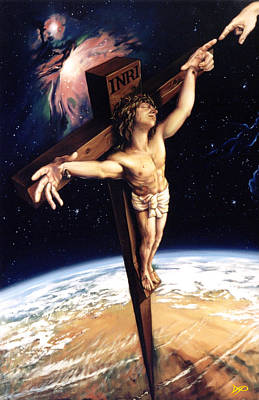 Crucifix Wall Art - Painting - The Crossing by Patrick Anthony Pierson