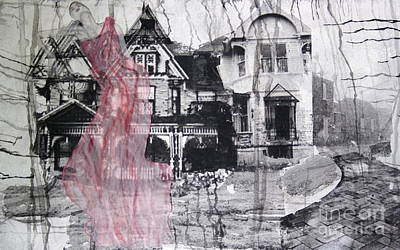 Image Transfer Mixed Media - The Crutch by Steffanie Pinner