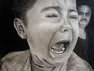 The Crying Child Art Print by Mickey Raina